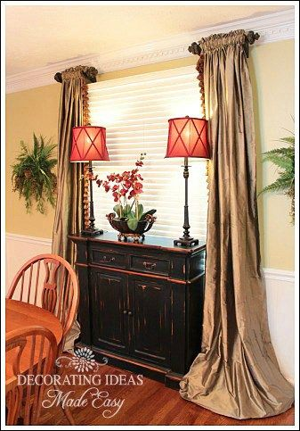 Dining room decorating Room decorating ideas and Window