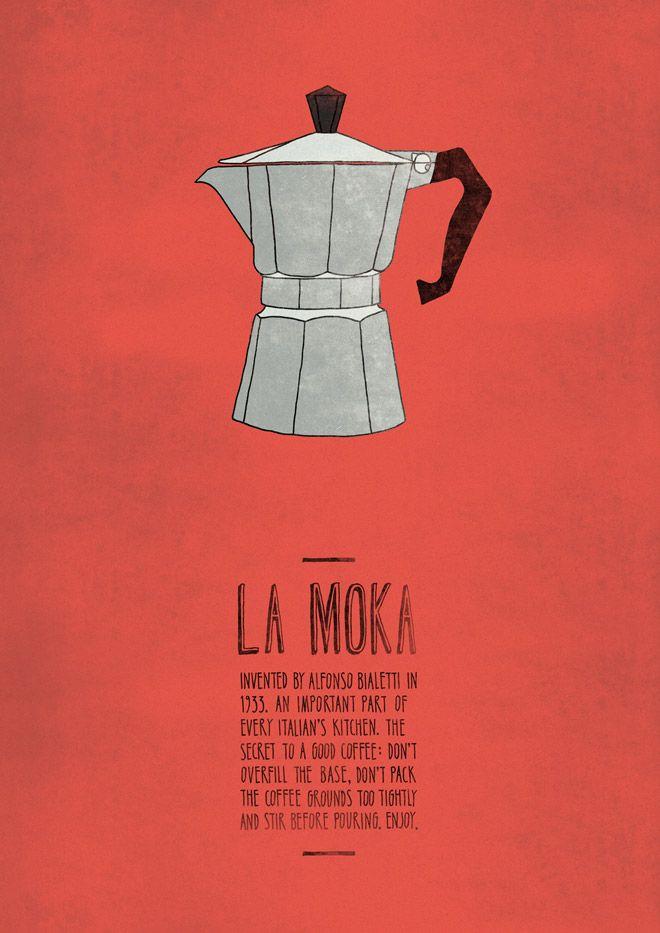 La Moka | Italian Inventions Poster by Emily Isles