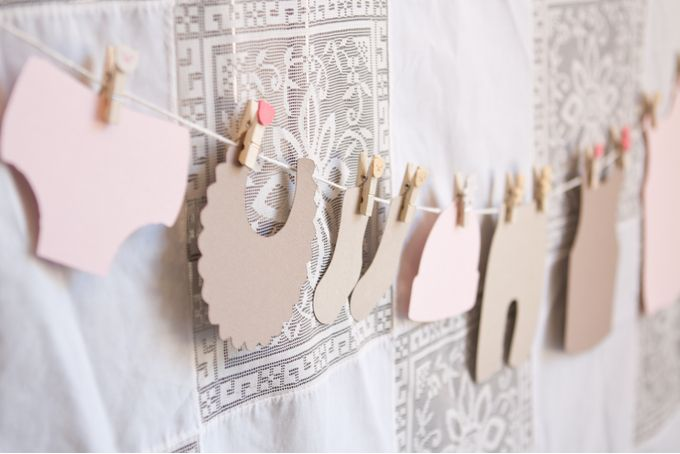 Washing Line Babyshower Bunting by Pop! Events Decor