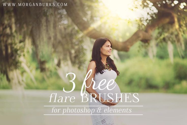3 Free Flare Brushes for Photoshop and Elements! | Find more freebies as well as free tutorial at www.morganburks.com