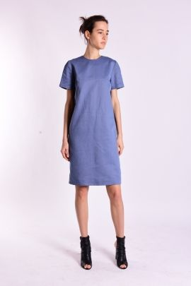 Combined fabric dress   Adelina Ivan Studio