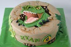 T Rex dinosaur cake for Douglas