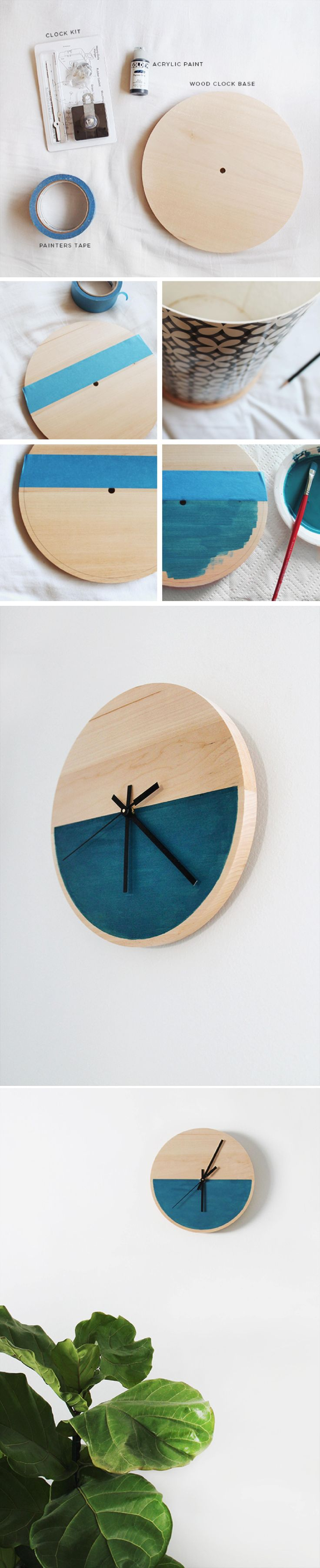 reloj pared DIY muy ingenioso 2