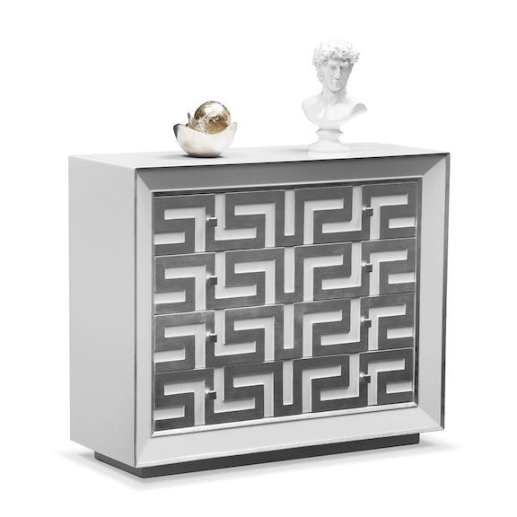 Halston Bachelor Chest - Silver | Value City Furniture