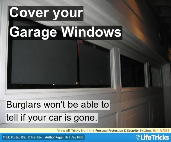 Cover Your Garage Windows Garage Windows Home Security