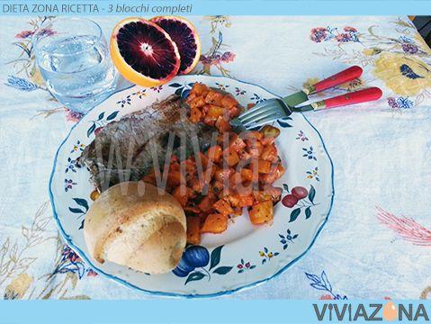 28. Dieta Zona Dadolata Melanzane