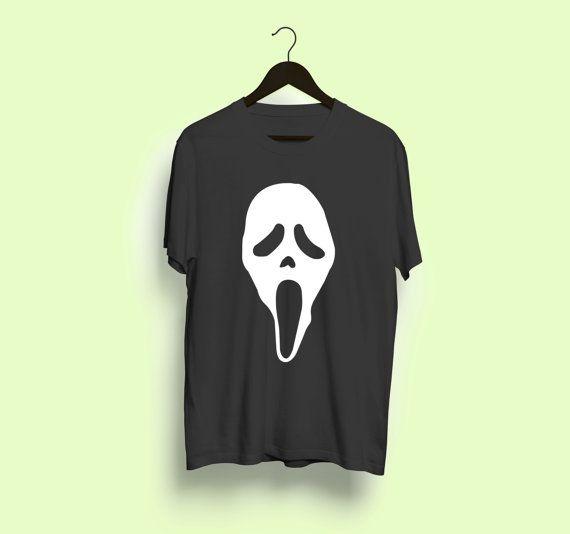 Scream Ghostface Fan T-Shirt horror movie film halloween tee shirt