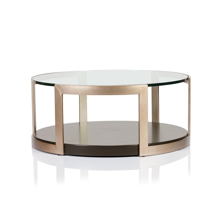 Manhattan Glass Top Round Coffee Table - Max Sparrow