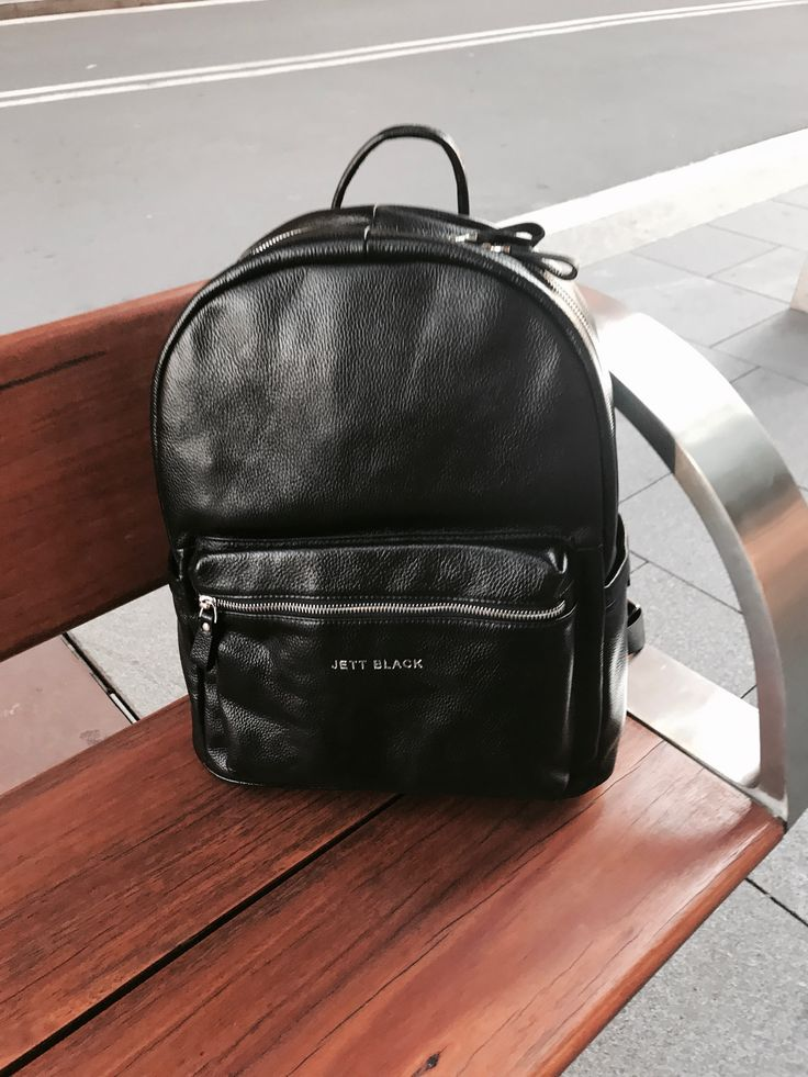 Jett Pack leather backpack. The perfect weekend companion.#Jetsetter #JettBlackLuggage #Travel #LeatherAccessories