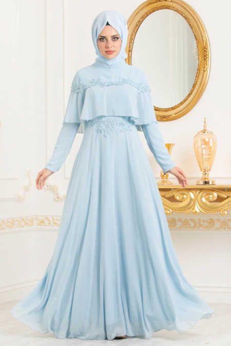 3a197dfcda3cb Neva Style - Baby Blue Hijab Evening Dress 36640BM in 2019 | EVENING ...