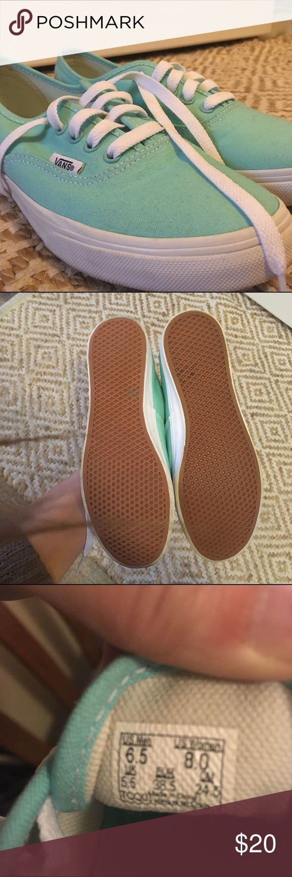 Vans Tiffany Blue Tiffany blue Vans, only worn Twice! In excellent condition. Vans Shoes Sneakers