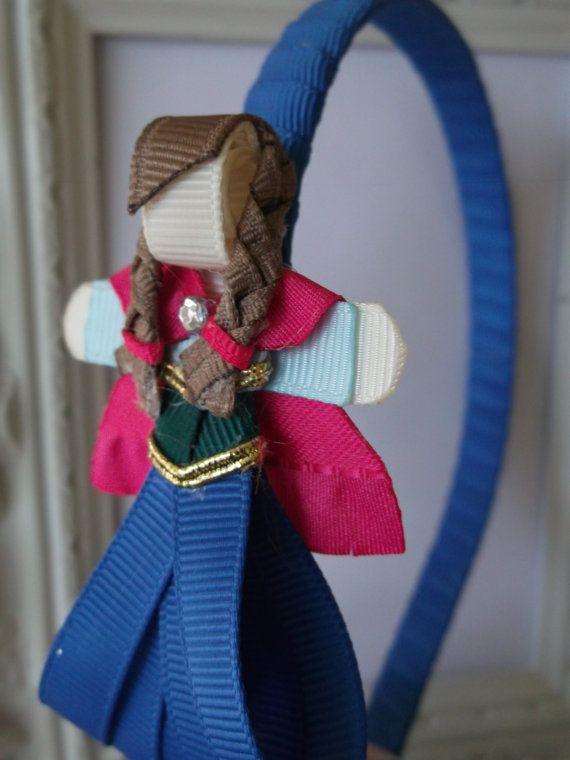 Princess Anna Ribbon Sculpture Headband. Frozen Headband.