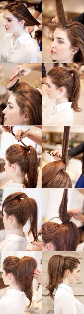 bouffant ponytail tutorial