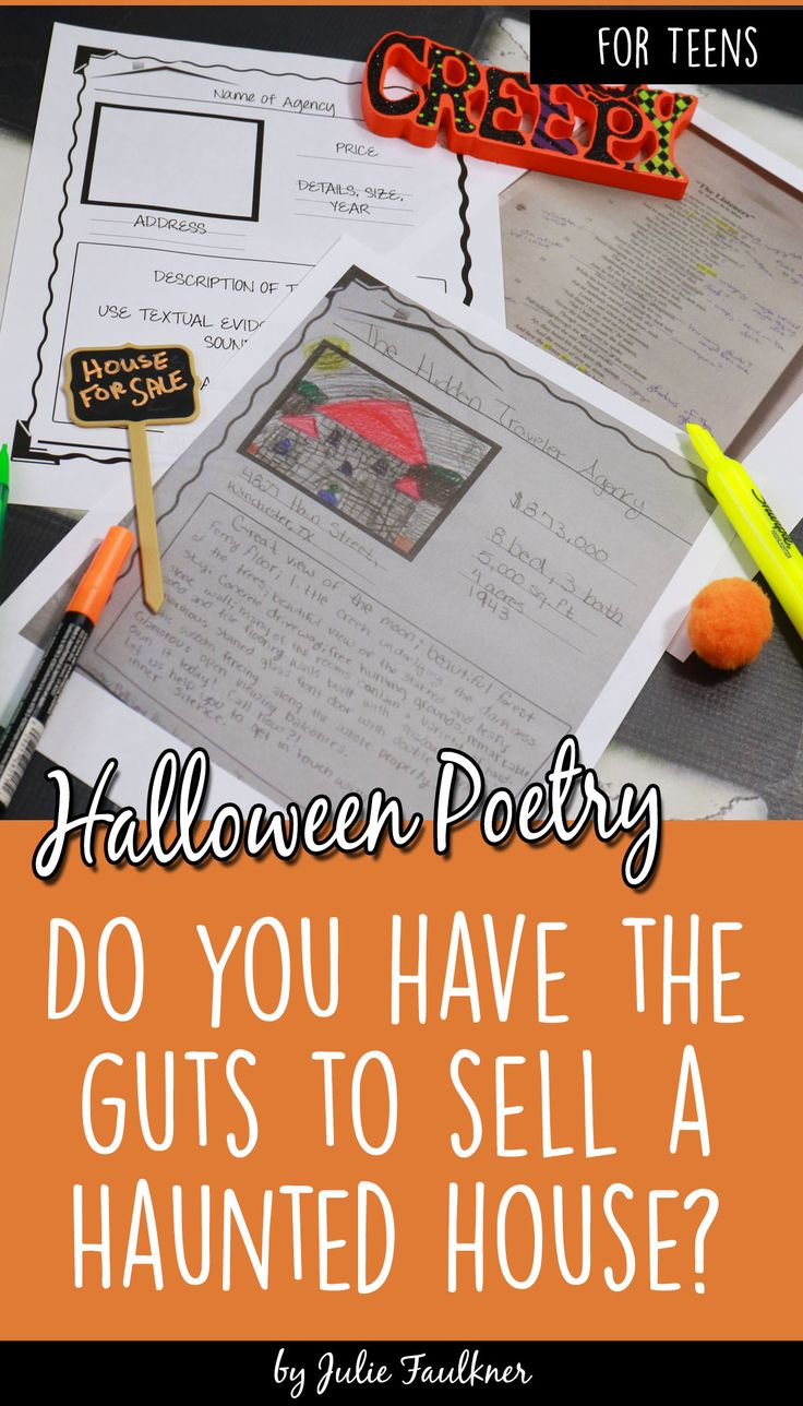 halloween activities for teens poetry lesson the listeners straight out of my high school. Black Bedroom Furniture Sets. Home Design Ideas
