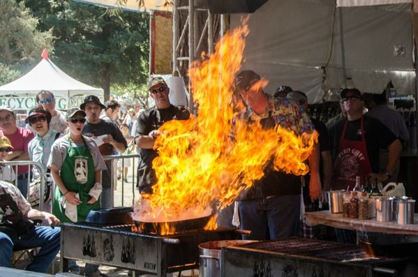 "The ""Pyro Chefs"" at the annual Gilroy Garlic Festival (Gilroy, CA)"