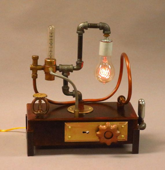 Steampunk desk lamp steampunk desk lamp - Steampunk Desk Lamp With Edison Bulb