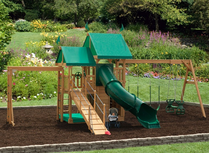 Swing set project backyard pinterest the o 39 jays for Swing set bridge