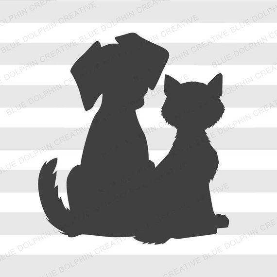 Download Cat and Dog SVG png pdf jpg ai dxf Animal lover svg Cat ...