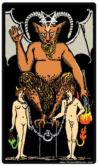 We've done this before but it's always worth doing again. When you see #thedevil appear in your daily tarot, it is time to cut something loose in your life. It might be a toxic relationship, a substance abuse problem, or even something as simple as overspending. The mythology and symbolism of the chains and shackles around the devil are interesting. Did you know that he has the power to unleash those chains? And so do you!