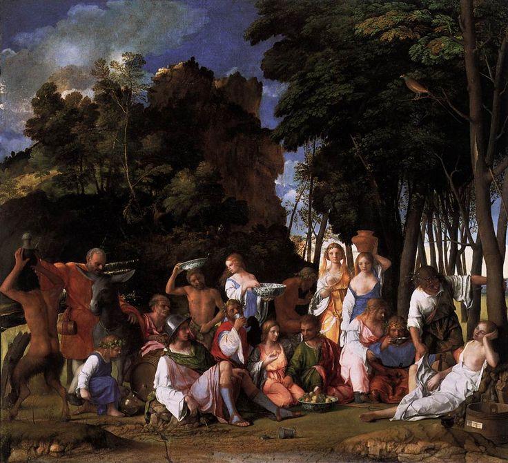 Bellini, Le Festin des dieux, 1514 - 1529, Peinture à l'Huile, Dimensions : 1.7 m x 1.88 m, 1514 - 1529, National Gallery of Art (Washington, USA)