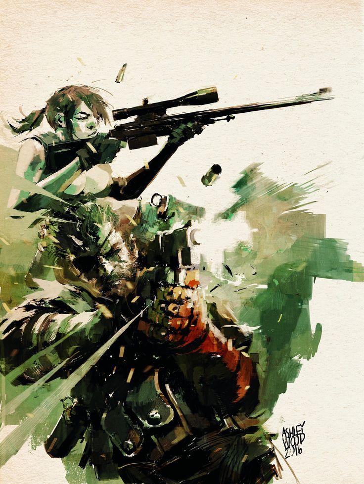 Metal Gear Solid V by Ashley Wood
