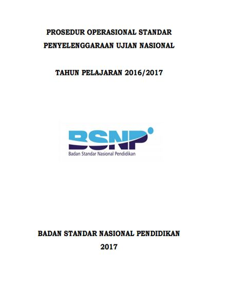 DOWNLOAD POS UN TERBARU 2017