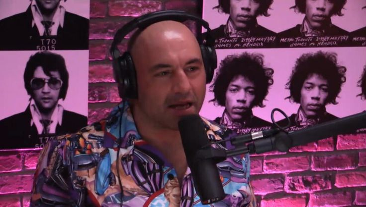 The famous Joe Rogan wearing one of my famous pinup bowling shirts! www.ellyprizeman.com