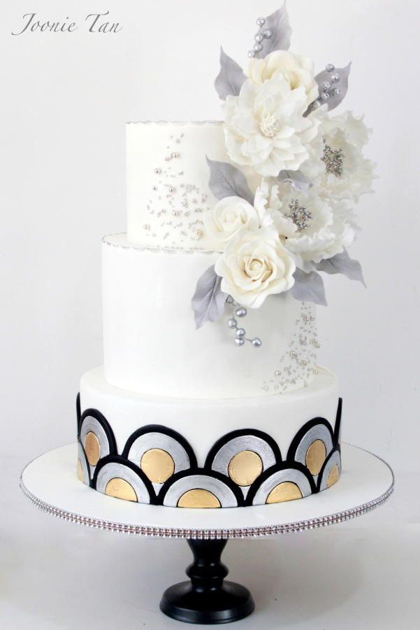 The silver jubilee cakes and decorations pinterest for Art deco cake decoration