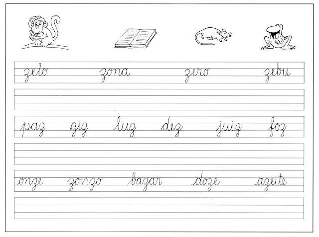 ATIVIDADES PARA TREINAR LETRA CURSIVA | Cantinho do Educador Infantil