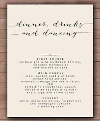 Image result for formal dinner menu example