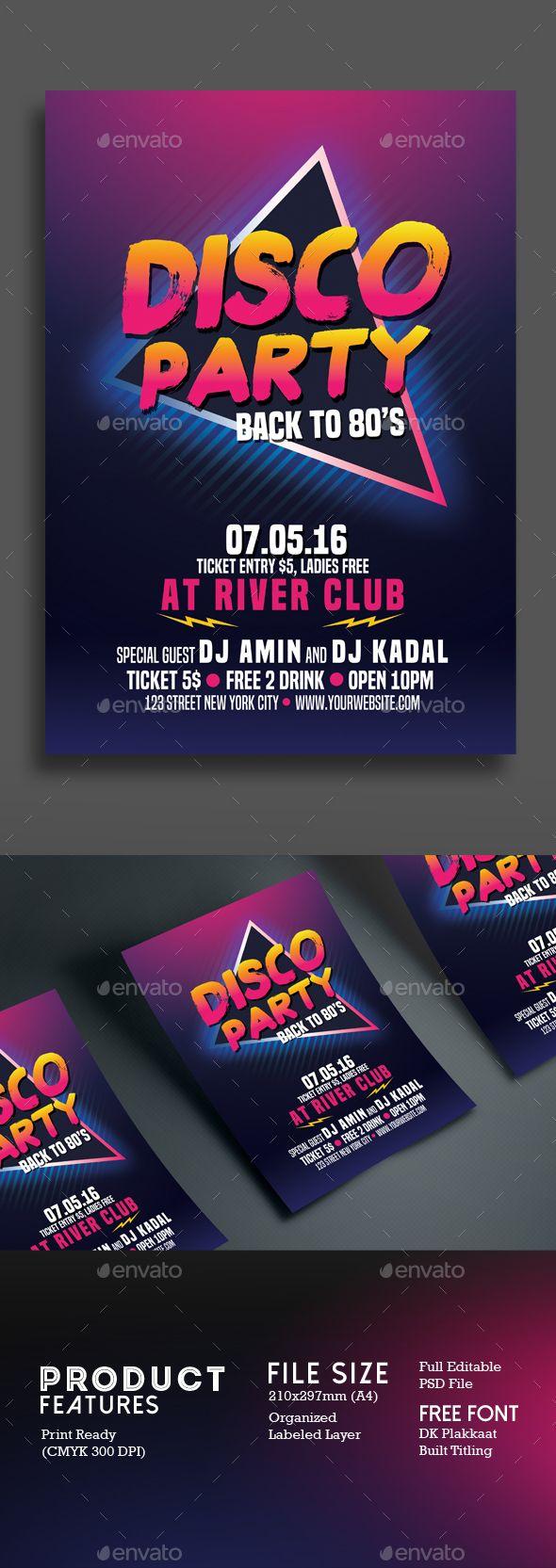 80s poster design - Disco Party 80 S