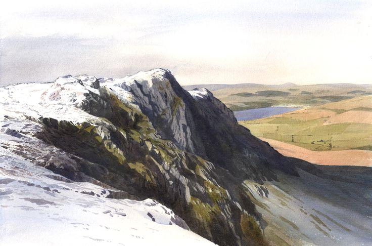 Link to Aran Benllyn and Llyn Tegid, an original watercolour painting by Rob Piercy