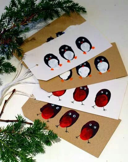 Robin and penguin finger print