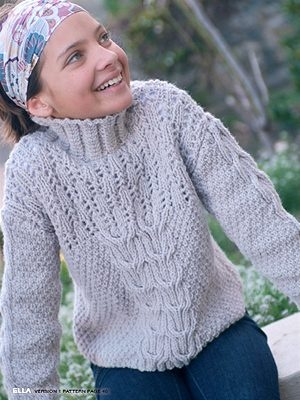 Free Knitting Patterns For Teenage Sweaters : 48 best images about Knitting -- Kids on Pinterest Free pattern, Cable swea...