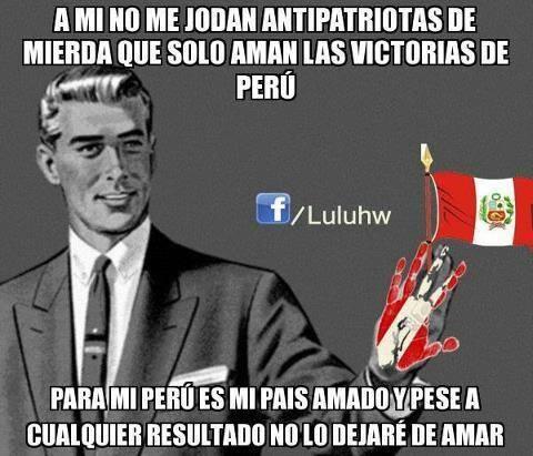 Asi es! En las buenas y malas...siempre contigo PERU!!