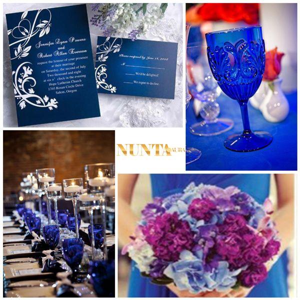 Idei colorate: albastrul electric - vedetă la nunta ta
