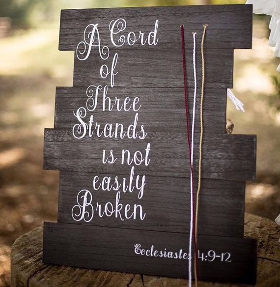 A Cord of Three Strands Ecclesiastes 4: 9-12 by JustAddGlitterShop