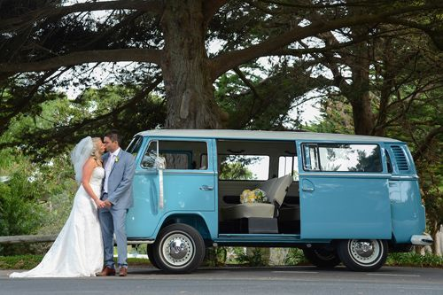 Katherine and Aaron sharing a kiss x #kombilove #wedding #Melbourne