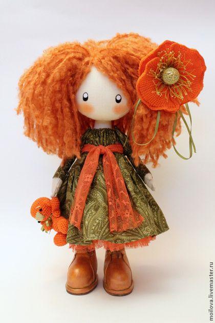 Человечки ручной работы. Ярмарка Мастеров - ручная работа. Купить Кукла Иви Кудряшка..... Handmade. Текстильная кукла, хлопок