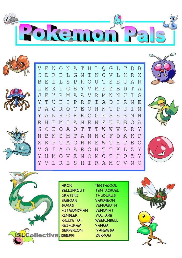 Pokemon Wordsearch                                                                                                                                                                                 More