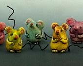 Vintage Style Tiny Mouse talisman