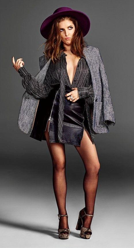 "( 2016 ) ☞ HOT CELEBRITY WOMAN ★ ANNA KENDRICK IN A MINISKIRT AND HIGH HEELS ) ★ Anna Kendrick - Friday, August 09, 1985 - 5' 2"" - Portland, Maine, USA."