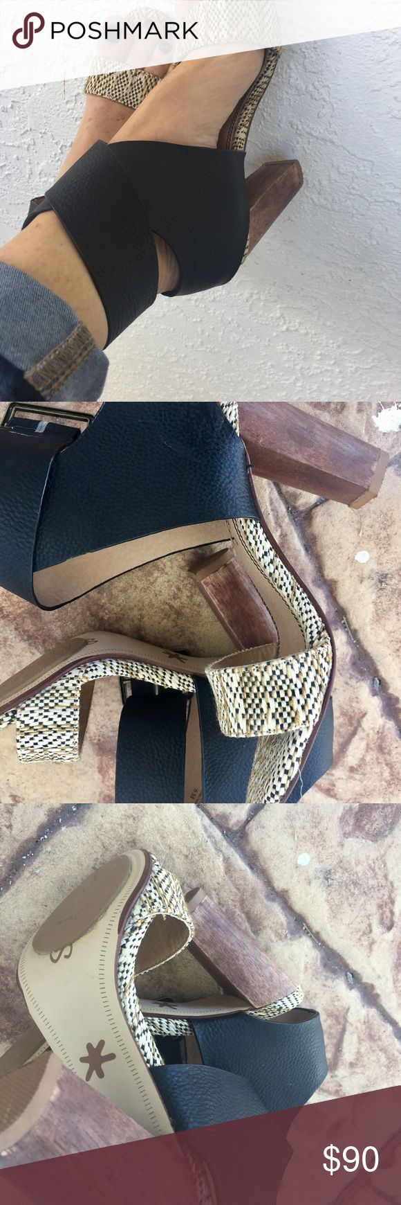 """Splendid High Heel Dandal Splendid """"The Jayla"""" Strappy high heel, with over size detail buckle.  I had them cut down at the shoe repair to 3"""" heel I had them add non slip soles.No slipping! Of course I never did wear them. Brand new condition Splendid Shoes Sandals"""