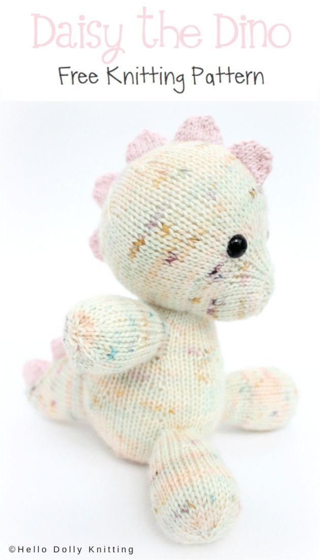 Free Knitting Pattern – Daisy the Baby Dino PDF Knitting Pattern