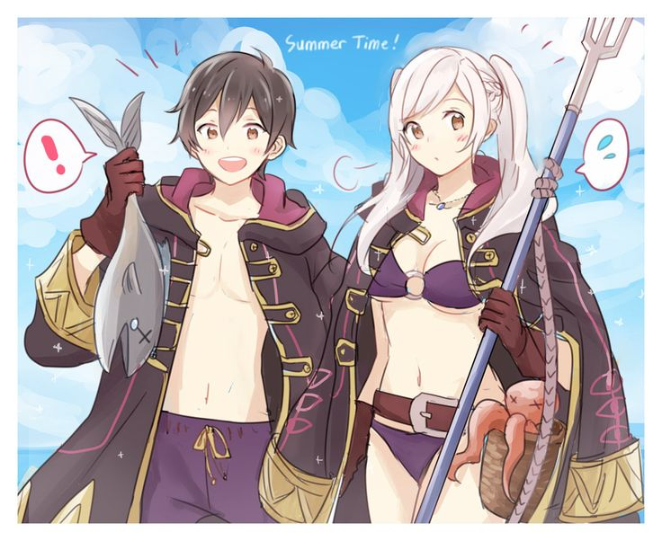 Fire Emblem Heroes || Summer Robin and Morgan