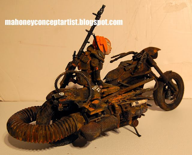 Mercenary Garage: Apocalypse Cruiser    Image John Mahoney    #JohnMahony #MahonyConceptArtist #ApocalypseBike #Mercenary #MercenaryGarage