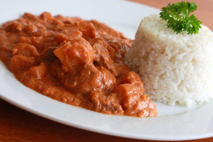Domoda, the national dish of Gambia.  Beef or chicken & pumpkin stew.  African comfort food at its best!  daringgourmet.com
