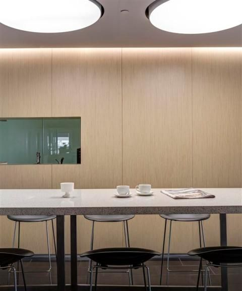 Stack Business Interiors | AIG | Stella stools by Plank