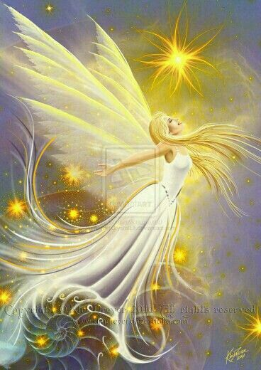 A beautiful golden fairy!