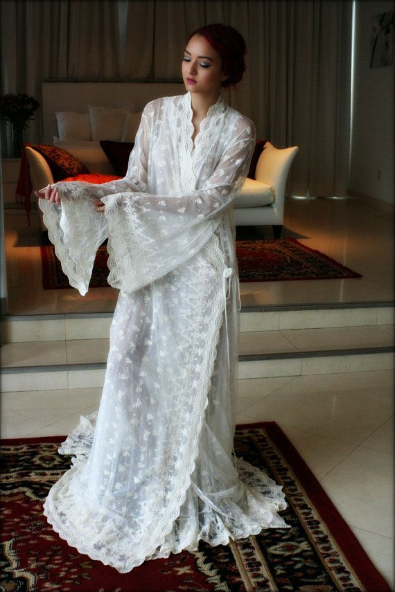 Hey, I found this really awesome Etsy listing at https://www.etsy.com/listing/262519797/embroidered-lace-bridal-robe-french-lace